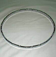 "Banjo Tension Hoop-11"" notched nickel plated brass"