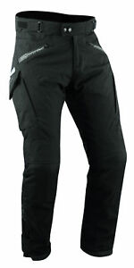 CE Armored Motorcycle Motorbike Waterproof Textile Thermal Trousers Black 44
