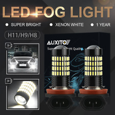 AUXITO H8 H11 LED Fog Light Bulb Kit Car Driving DRL Work 6000K White High Power