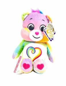 "9"" Care Bears Multi-Color Togetherness Bear Stuffed Bean Love Plush 2021 NEW"