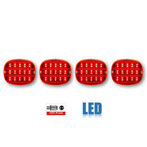 90 91 92 93 94 95 96 Chevy Corvette Red LED Rear Tail Brake Light Lamp Lens Set