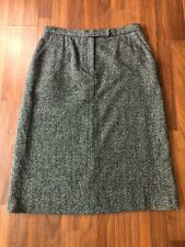 Vintage Kate Hill Woven Wool & Silk Skirt - In Great Condition! - Size 14