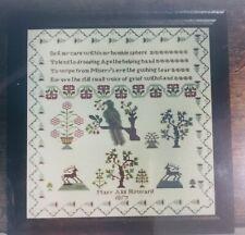 NEW Handwork Samplers THE MARY ANN HOWARD 1817 SAMPLER Cross Stitch Pattern
