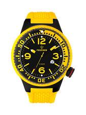 POSEIDON Herren-Armbanduhr XL Black Pro Analog Silikon UP00258 Gelb UVP 139,- €