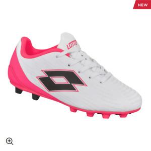 Lotto Neopolitan WW Girls Soccer Cleats White/Pink CHECK WIDE SIZES NIB