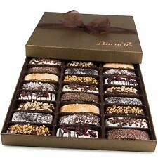 Biscotti Cookies Gift Box Basket Christmas Chocolate Gourmet Holiday Food