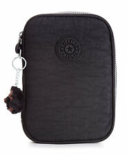 NWT Kipling 100 Pens Pencil Cord Case Cosmetic Travel Pouch Black