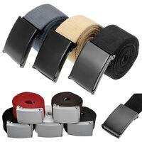Men's Black Tactical Heavy Duty Elastic Military Belt With Metal Cam Buckle US
