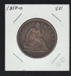 1858-O Seated Liberty Half Dollar, VF