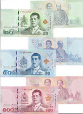 THAILAND 20 50 100 BAHT 2018 UNC KING RAMA X P NEW