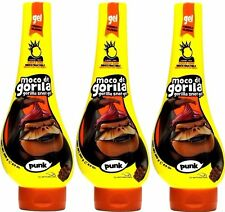 Moco De Gorila Hair Styling Gel Gorilla Punk Snot Squizz 11.9 Oz Each 3 Packs !