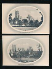Cambridgeshire ELY Cathedral 4 Unused c1900/20s? PPCs Valentine Series