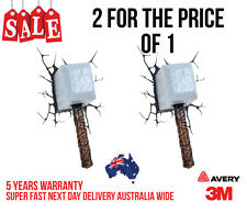 2 X 3D THOR HAMMER FUNNY CAR, TRUCK WALL OR DOOR STICKER DECAL