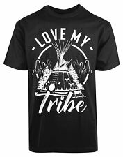 Love My Tribe New Men's Shirt Camp Nature Fun Outdoor Gift Summer Casual Top Tee