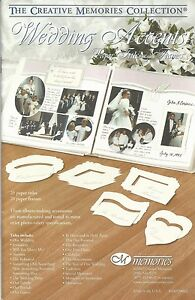NEW Creative Memories WEDDING ACCENTS - PAPER TITLES AND FRAMES - RRP $27.40