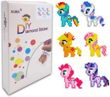 Xubx 5D Diy Diamond Painting Kits for Kids, Mosaic Sticker by Numbers Kits Arts