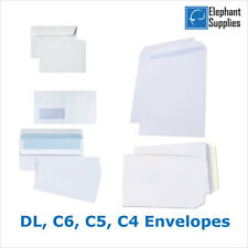 High Quality White Self Seal Envelopes PLAIN DL C4 100gsm Strong Paper