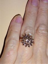 1.69 ct Natural Color Change Garnet Floral 10K Yellow Gold Ring size 8.25