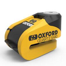 Oxford Quarzo Allarme XA10 Moto Blocca Disco 10mm Perno Giallo/Nero