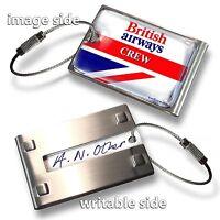 British Airways RETRO CREW  LUGGAGE TAG -(METAL)