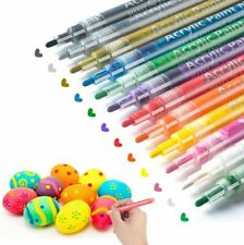 Jr.White Acrylic Paint Markers Pens Set of 12 Colors: Great for Kids Adults Art
