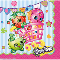 Shopkins Beverage Napkins 16/Pkg Birthday Party Supplies free shipping
