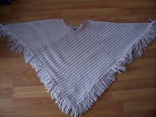 Pink /white knitted poncho from Eisenegger, One size only