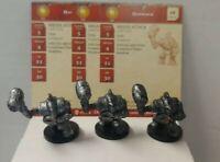 Lot of 3 D&D Miniatures Hammerer #7 Blood War Dungeons & Dragons