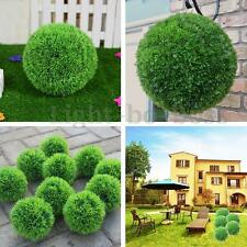 28cm Plastic Conifer Topiary Ball Grass Plant & Flower Home Party Hanging Decor