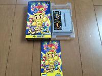 SUPER BOMBERMAN 2 Japan Super Famicom SNES BOX and Manual 066