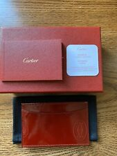 """AUTHENTIC CARTIER """"HAPPY BIRTHDAY"""" COLLECTION SIMPLE CARD HOLDER, CALFSKIN, BNIB"""