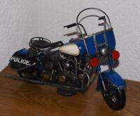 Clayre Eef Blechfahrzeug Motorrad Shopper Retro Vintage Police Nostalgie 23x37cm