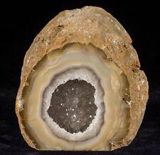 Agate Geode Crystal Quartz Polished Druzy Specimen Cluster - Brazil