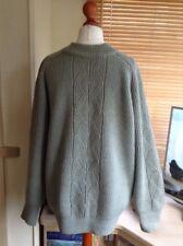 Anderson Hand Frame Knitwear Size Large Men's Green Heavy Knit Jumper