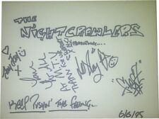 The Nightcrawlers SIGNED AUTOGRAPHS signed by 4 AFTAL UACC RD