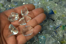 5 lbs MOSTLY CLEAR VERY LITTLE COLOR BLOWN GLASS SCRAP 96 COE CASTING POT MELTS