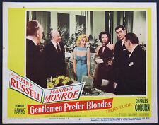 GENTLEMEN PREFER BLONDES MARILYN MONROE JANE RUSSELL 1953 LOBBY CARD #6