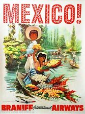 Mexico by Clipper Mexican Latin America Vintage Travel Advertisement Art Poster