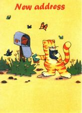 New Address - Cat & Butterfly Mailbox Theme Just Moved Note Cards - Set of 8