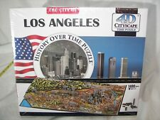 New Sealed 4D Cityscape 1400 Piece Puzzle Los Angeles History Over Time L@@K!!!