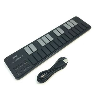 Korg nanoKEY2 25-key USB MIDI Keyboard Controller Black w/ Cord