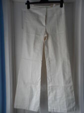 Flared Cotton 32L Trousers for Women