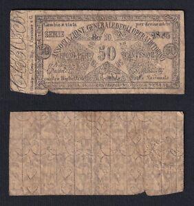 Italia Associazione Generale degli Operai di Torino 50 centesimi 1871  B-02