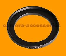 42mm to 52mm 42-52 Stepping Step Up Filter Ring Adapter 42-52mm 42mm-52mm M-F