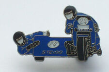Motorcycle Sidecar TT Racing Team / Isle Of Man , IOM , TT racer pin BADGE