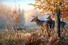 "Deer Animal Natural Landscape Scenery Fantasy Artwork Poster 24""x36""Fabric Print"