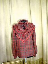 Camicia scozzese donna vintage tirolese M