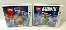 Nintendo 3DS Lego Cases And Manuals Star Wars Lego Movie  NO GAMES
