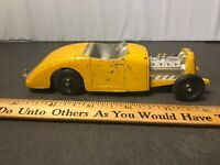 VINTAGE 1950s TOOTSIE TOY YELLOW ROADSTER HOT ROD 5 3/4IN