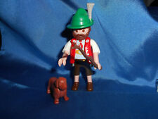 Playmobil Alm Bayer Mann Gamsbart Hut Stock Dackel unplayed unbespielt top